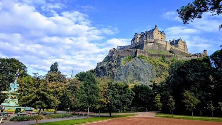 Edinburgh Castle from Princes Street Gardens by Andrew Girvan.